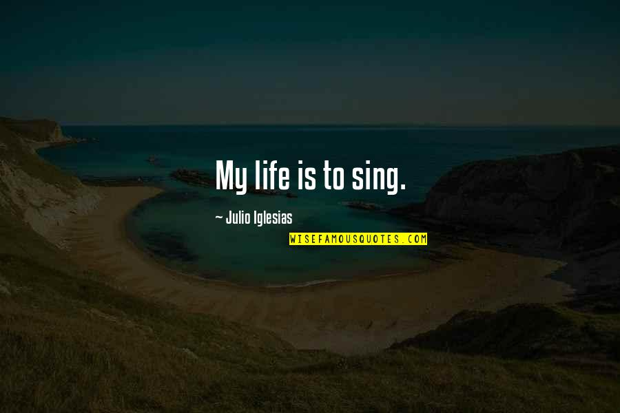 Pangarap Lang Quotes By Julio Iglesias: My life is to sing.