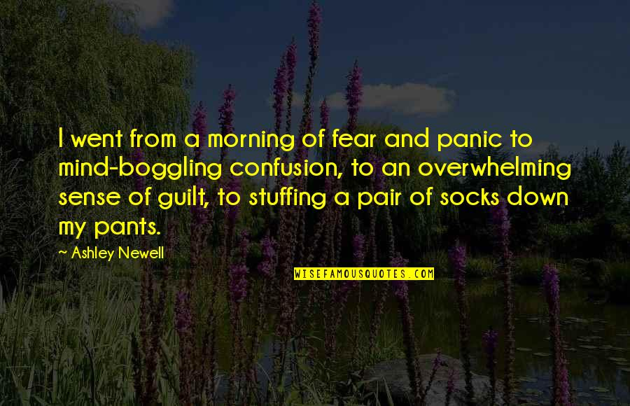 Pants Down Quotes By Ashley Newell: I went from a morning of fear and