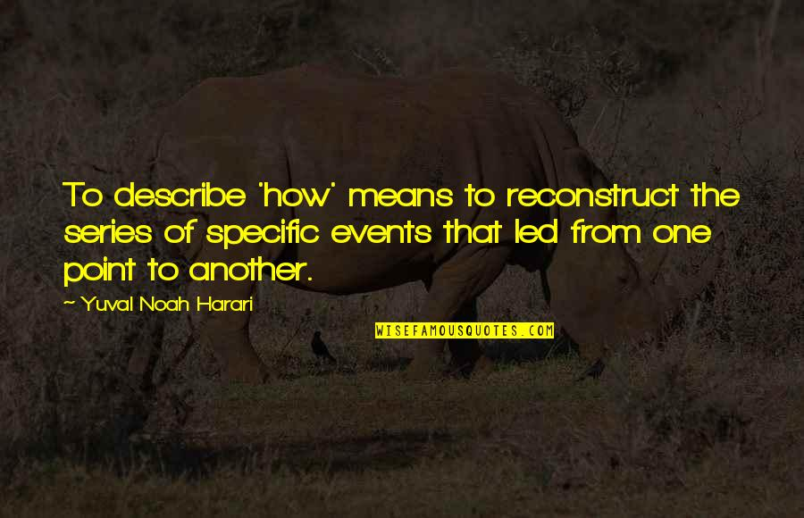 Parents Not Accepting You Quotes By Yuval Noah Harari: To describe 'how' means to reconstruct the series
