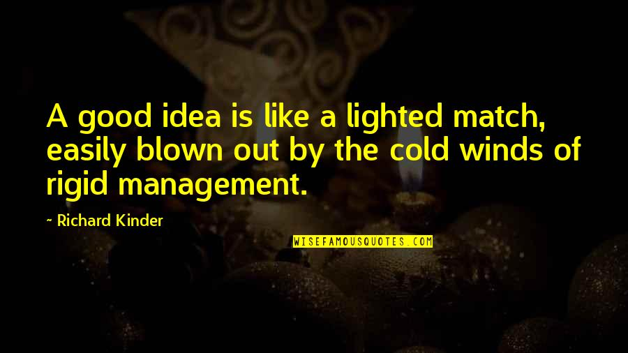 Paris Spleen Quotes By Richard Kinder: A good idea is like a lighted match,