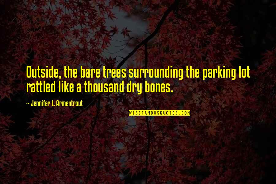 Parking's Quotes By Jennifer L. Armentrout: Outside, the bare trees surrounding the parking lot