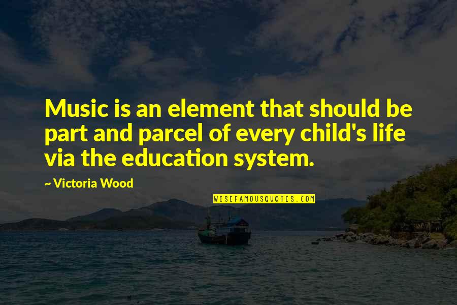 Part And Parcel Quotes By Victoria Wood: Music is an element that should be part