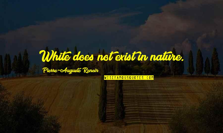Participle Quotes By Pierre-Auguste Renoir: White does not exist in nature.