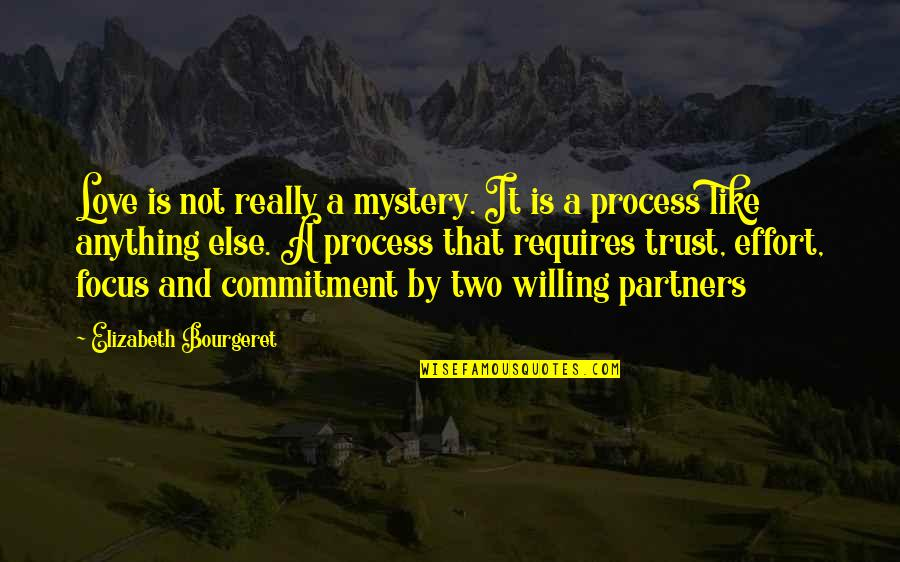 Partner In Love Quotes By Elizabeth Bourgeret: Love is not really a mystery. It is