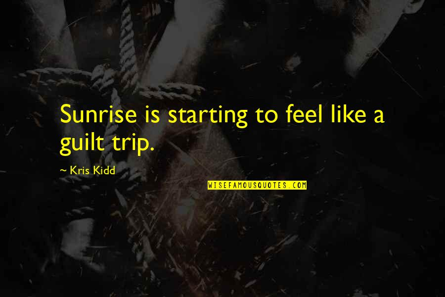 Partying Quotes By Kris Kidd: Sunrise is starting to feel like a guilt