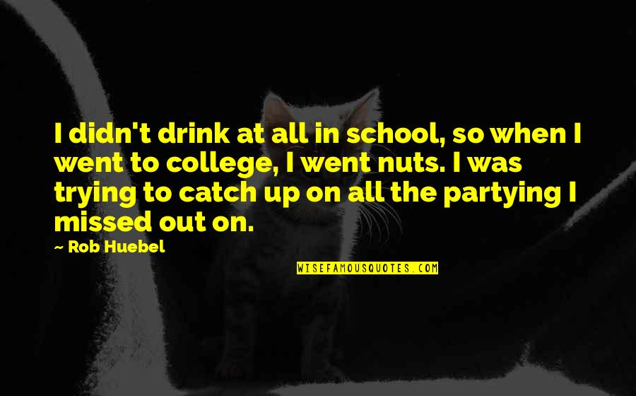 Partying Quotes By Rob Huebel: I didn't drink at all in school, so