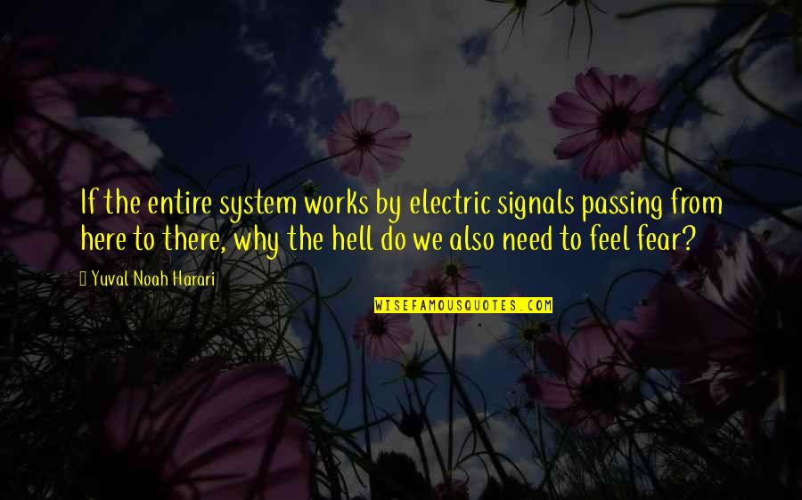 Passing It On Quotes By Yuval Noah Harari: If the entire system works by electric signals