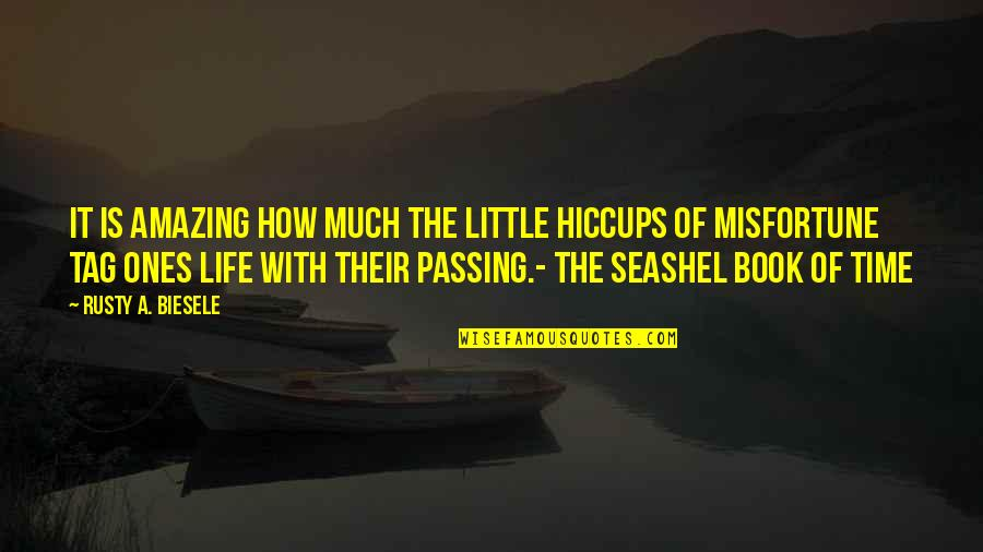 Passing The Time Quotes By Rusty A. Biesele: It is amazing how much the little hiccups