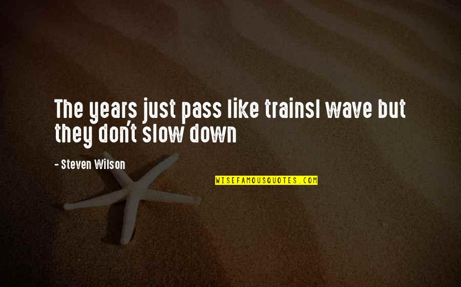 Passing The Time Quotes By Steven Wilson: The years just pass like trainsI wave but