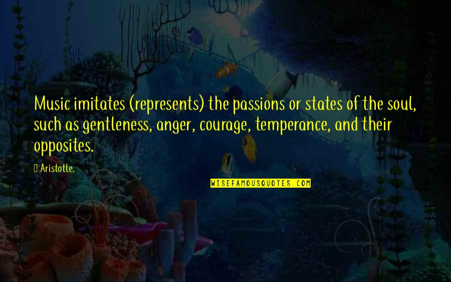 Passion And Music Quotes By Aristotle.: Music imitates (represents) the passions or states of