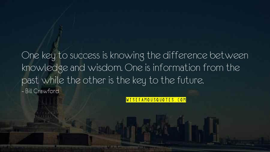 Past And Future Success Quotes By Bill Crawford: One key to success is knowing the difference