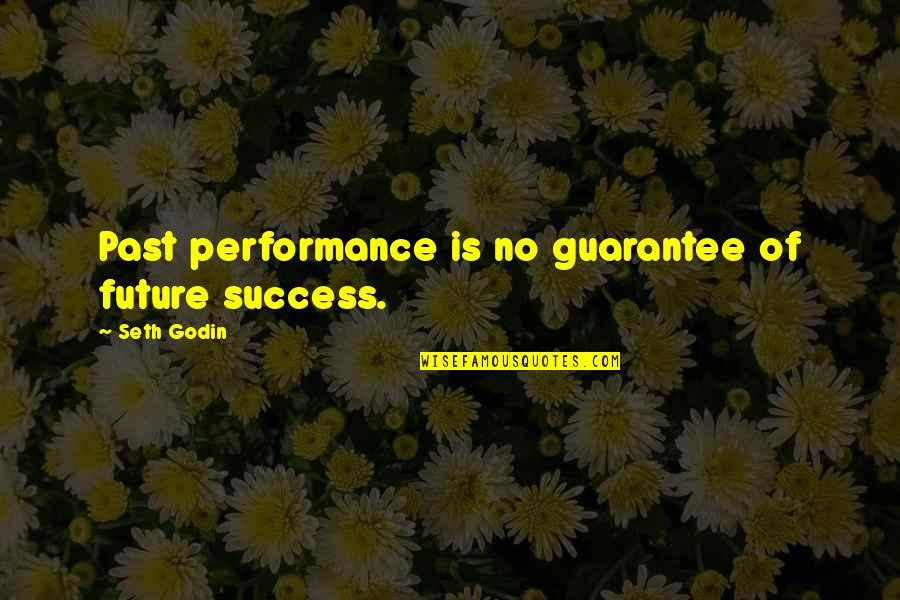 Past And Future Success Quotes By Seth Godin: Past performance is no guarantee of future success.