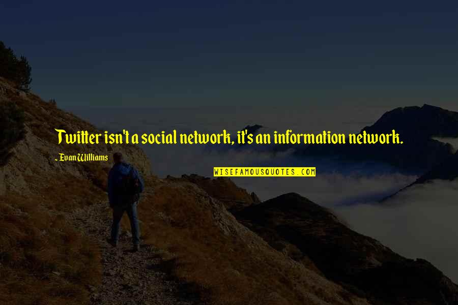 Past Dwelling Quotes By Evan Williams: Twitter isn't a social network, it's an information