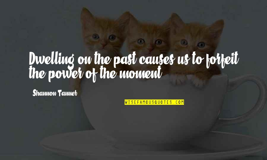 Past Dwelling Quotes By Shannon Tanner: Dwelling on the past causes us to forfeit
