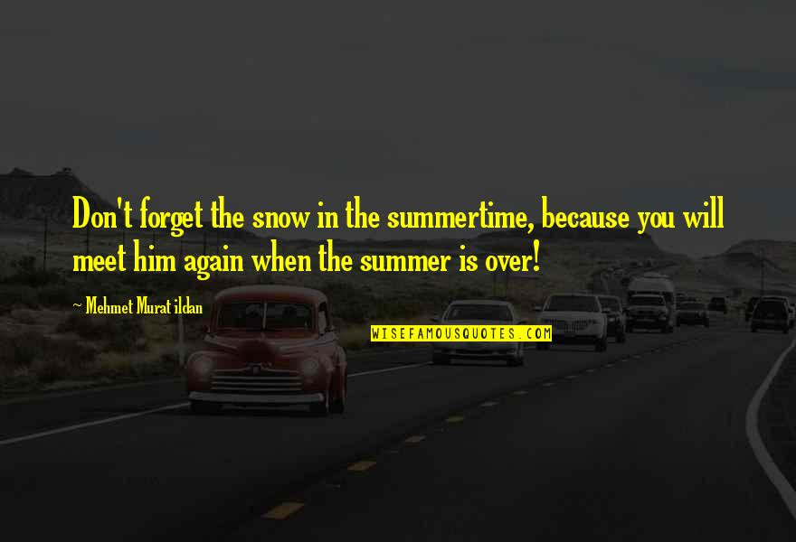 Past Forgetting Quotes By Mehmet Murat Ildan: Don't forget the snow in the summertime, because