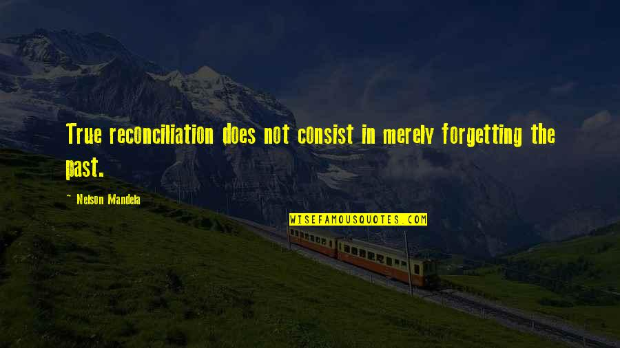 Past Forgetting Quotes By Nelson Mandela: True reconciliation does not consist in merely forgetting