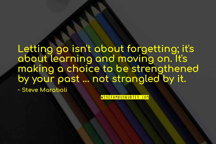 Past Forgetting Quotes By Steve Maraboli: Letting go isn't about forgetting; it's about learning