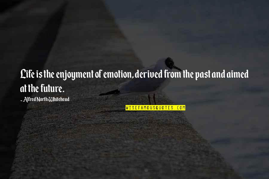 Past & Future Life Quotes By Alfred North Whitehead: Life is the enjoyment of emotion, derived from