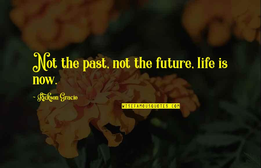 Past & Future Life Quotes By Rickson Gracie: Not the past, not the future, life is
