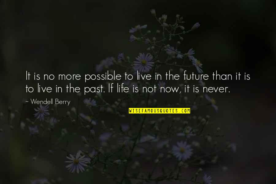 Past & Future Life Quotes By Wendell Berry: It is no more possible to live in