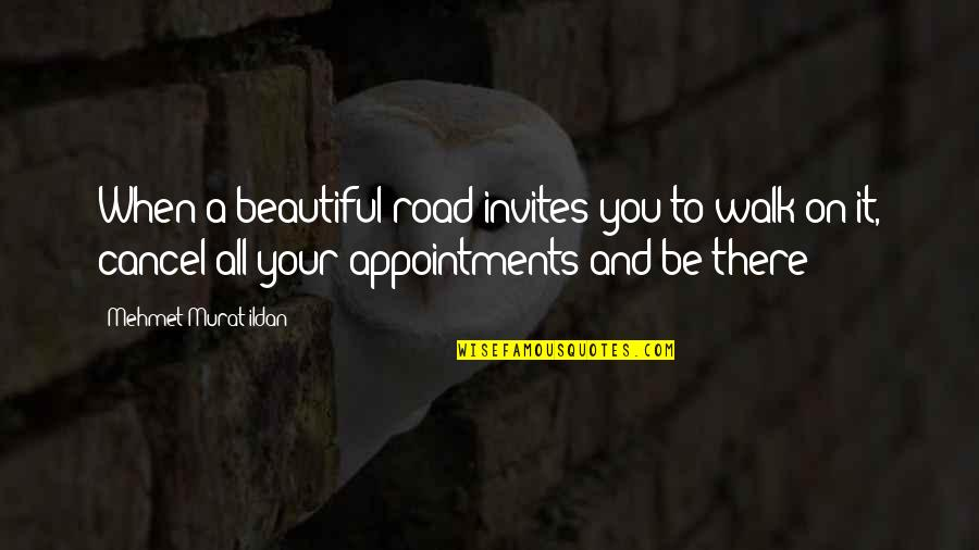 Past Keeps Haunting Me Quotes By Mehmet Murat Ildan: When a beautiful road invites you to walk