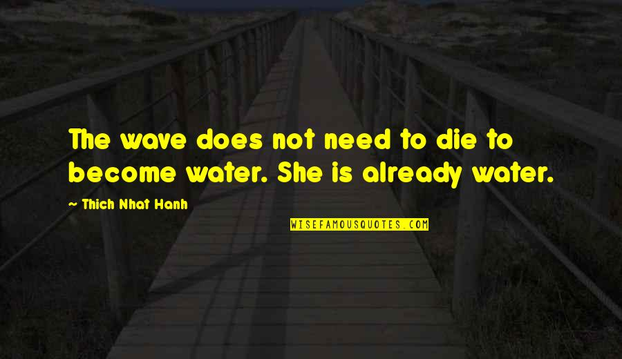 Past Keeps Haunting Me Quotes By Thich Nhat Hanh: The wave does not need to die to