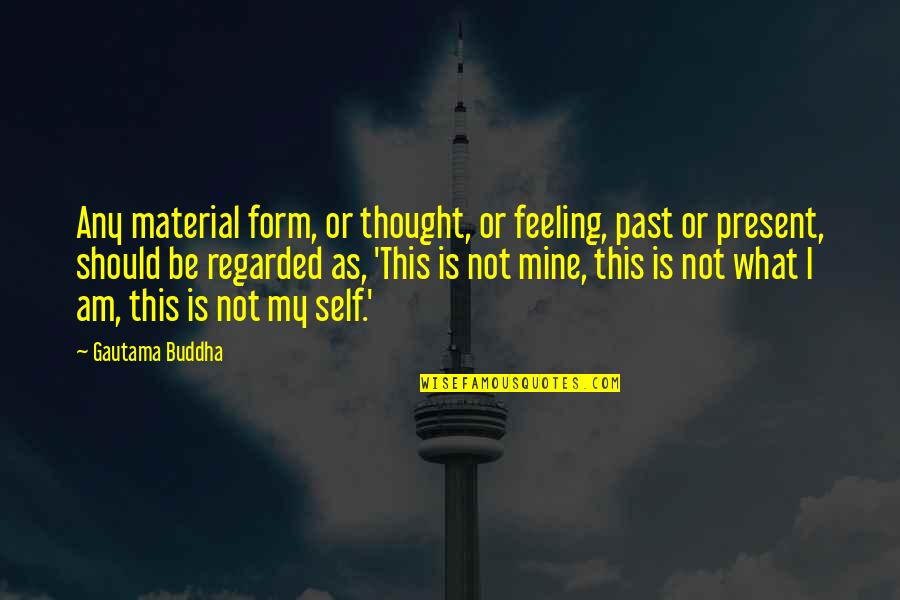 Past Self Quotes By Gautama Buddha: Any material form, or thought, or feeling, past