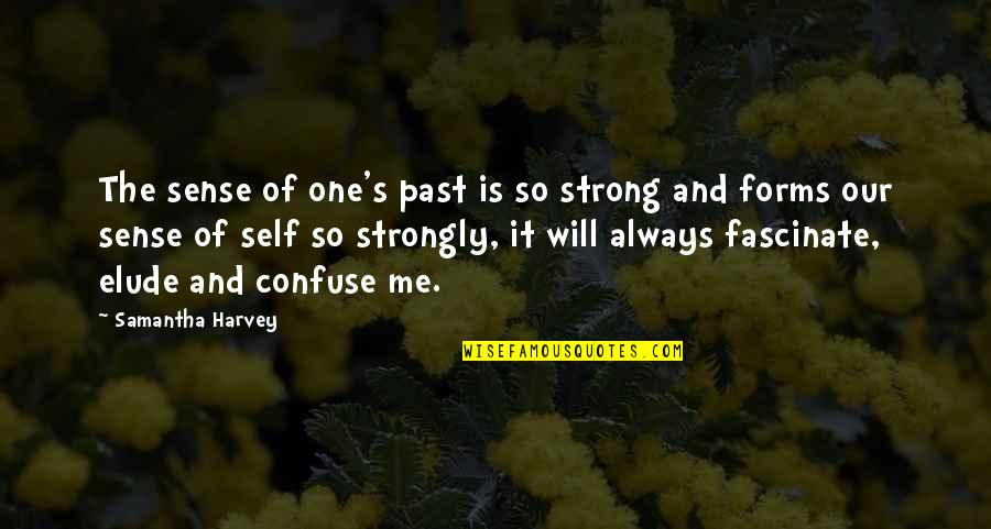 Past Self Quotes By Samantha Harvey: The sense of one's past is so strong