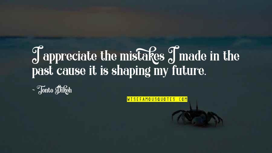 Past Shaping Future Quotes By Tonto Dikeh: I appreciate the mistakes I made in the