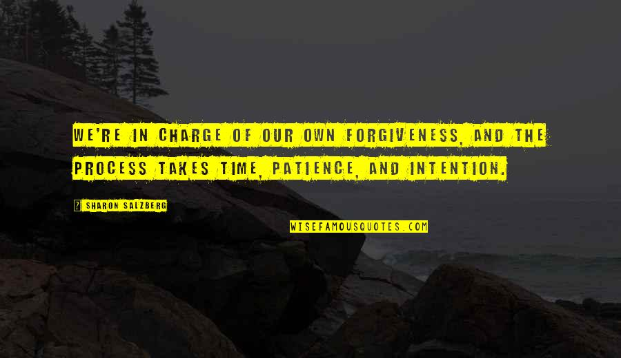 Patience And Forgiveness Quotes By Sharon Salzberg: We're in charge of our own forgiveness, and