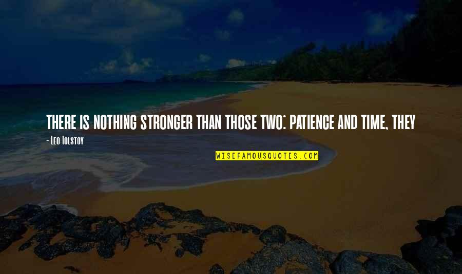 Patience And Time Quotes By Leo Tolstoy: there is nothing stronger than those two: patience