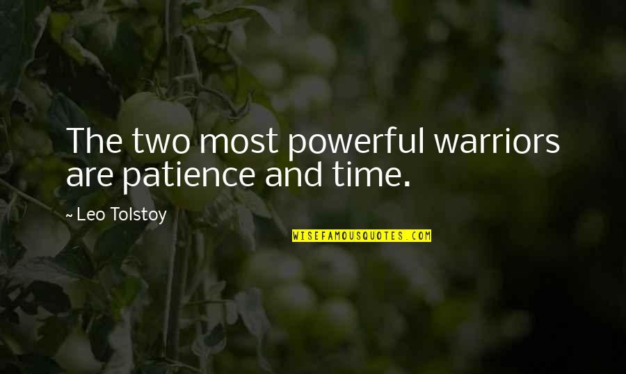 Patience And Time Quotes By Leo Tolstoy: The two most powerful warriors are patience and