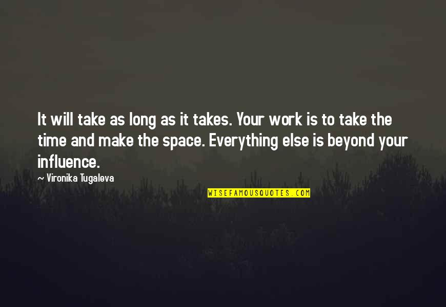 Patience And Time Quotes By Vironika Tugaleva: It will take as long as it takes.