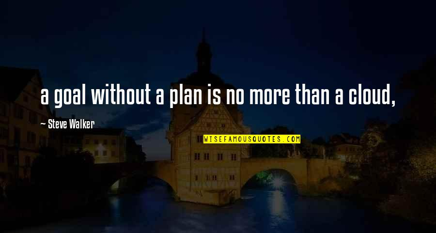 Patria Courage Quotes By Steve Walker: a goal without a plan is no more
