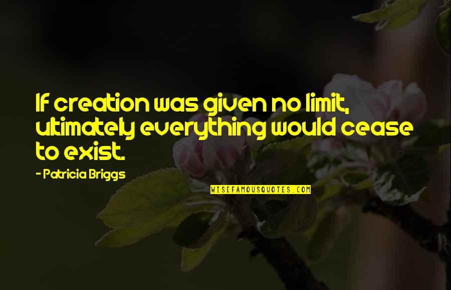 Patricia Briggs Quotes By Patricia Briggs: If creation was given no limit, ultimately everything