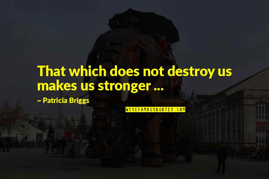 Patricia Briggs Quotes By Patricia Briggs: That which does not destroy us makes us