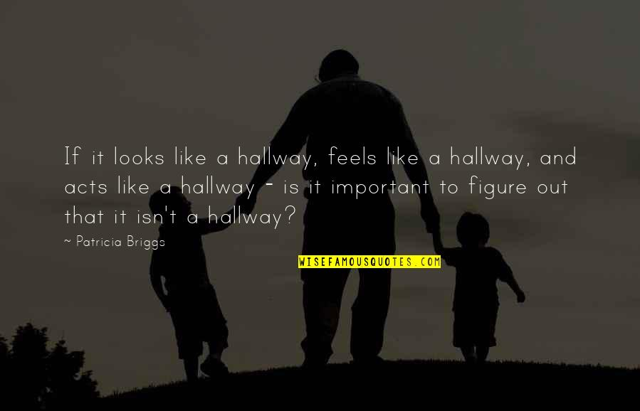 Patricia Briggs Quotes By Patricia Briggs: If it looks like a hallway, feels like