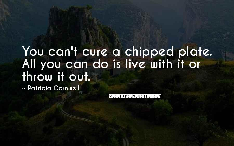 Patricia Cornwell quotes: You can't cure a chipped plate. All you can do is live with it or throw it out.