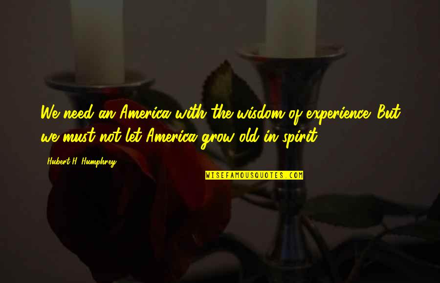 Patriotic Quotes By Hubert H. Humphrey: We need an America with the wisdom of
