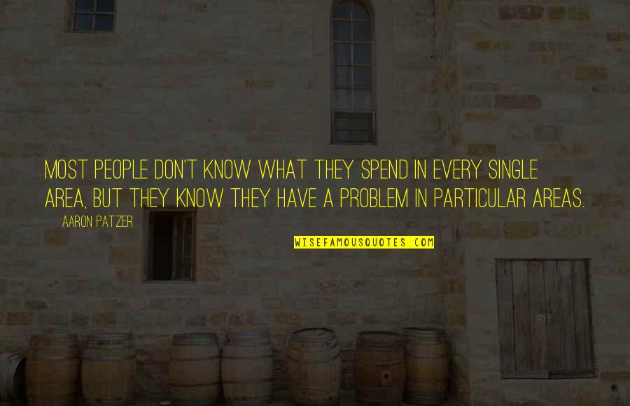 Patzer Quotes By Aaron Patzer: Most people don't know what they spend in