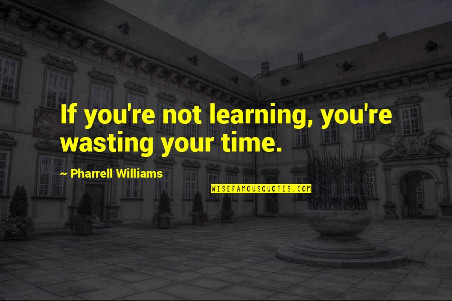 Paula Scher Helvetica Quotes By Pharrell Williams: If you're not learning, you're wasting your time.