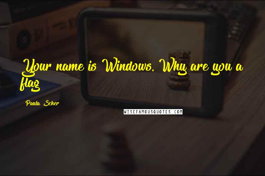 Paula Scher quotes: Your name is Windows. Why are you a flag?