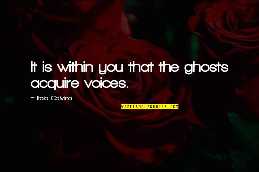Pauline Baynes Quotes By Italo Calvino: It is within you that the ghosts acquire
