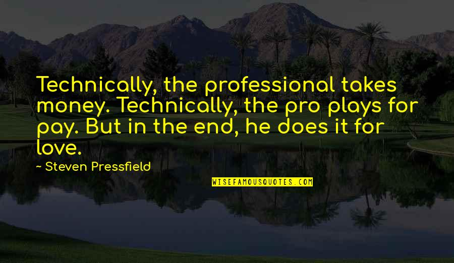 Pay For It Quotes By Steven Pressfield: Technically, the professional takes money. Technically, the pro