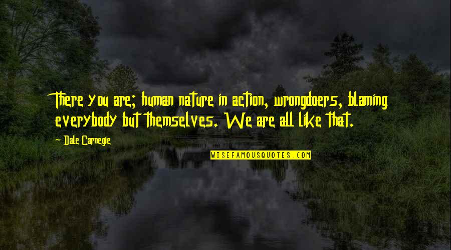 Pdo Prepare Quotes By Dale Carnegie: There you are; human nature in action, wrongdoers,