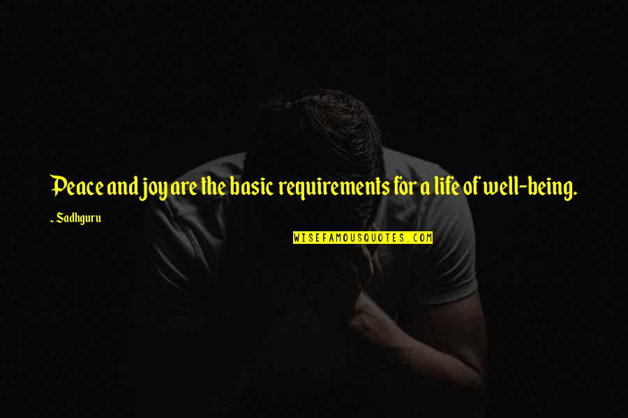 Peace And Joy Quotes By Sadhguru: Peace and joy are the basic requirements for
