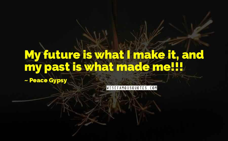 Peace Gypsy quotes: My future is what I make it, and my past is what made me!!!