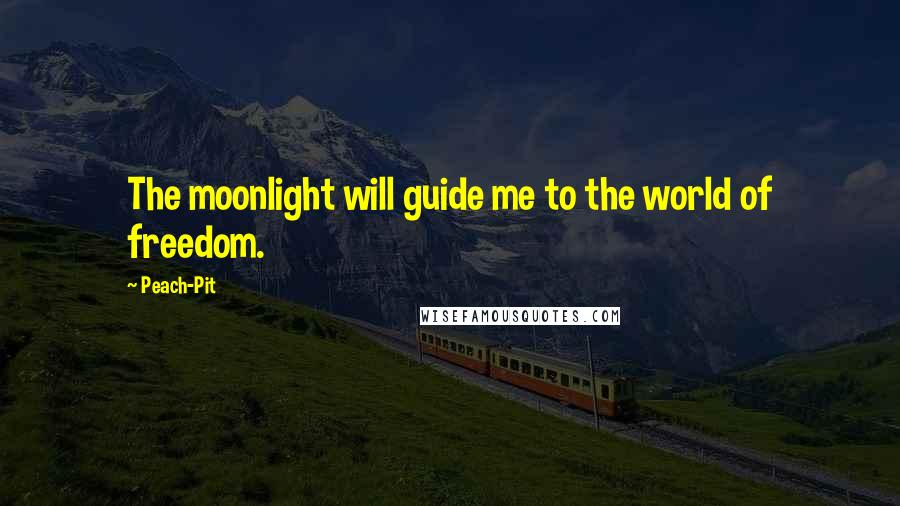 Peach-Pit quotes: The moonlight will guide me to the world of freedom.
