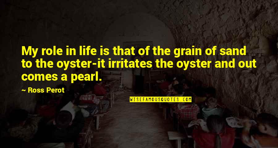 Pearls And Oysters Quotes By Ross Perot: My role in life is that of the
