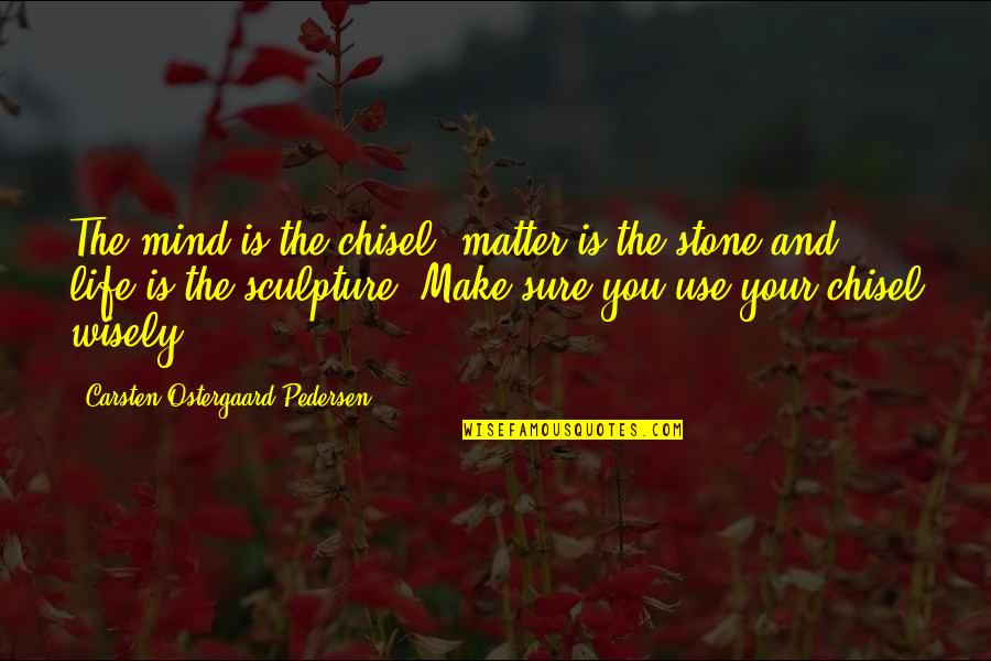 Pedersen Quotes By Carsten Ostergaard Pedersen: The mind is the chisel, matter is the